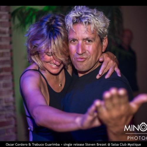 fotos Live Oscar Cordero `Chucky` Trabuco Guarimba + Steven Brezet in Salsa Club Mystique op 18-09-2016