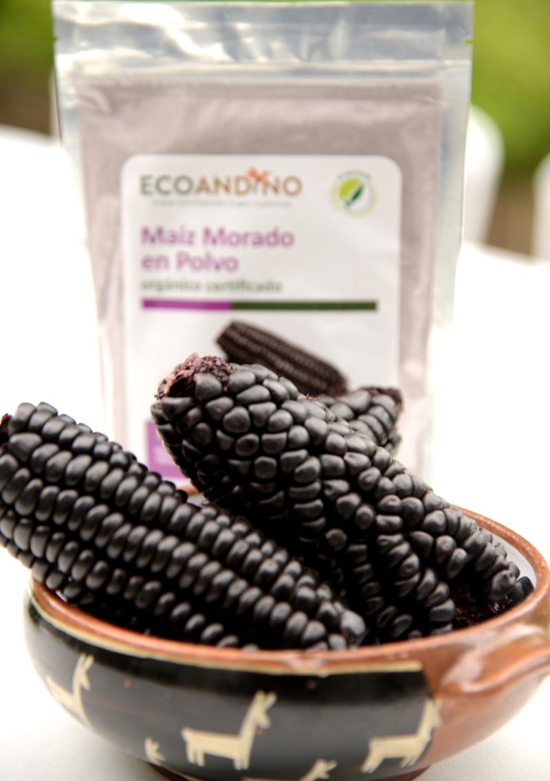 Zwart/paarse mais