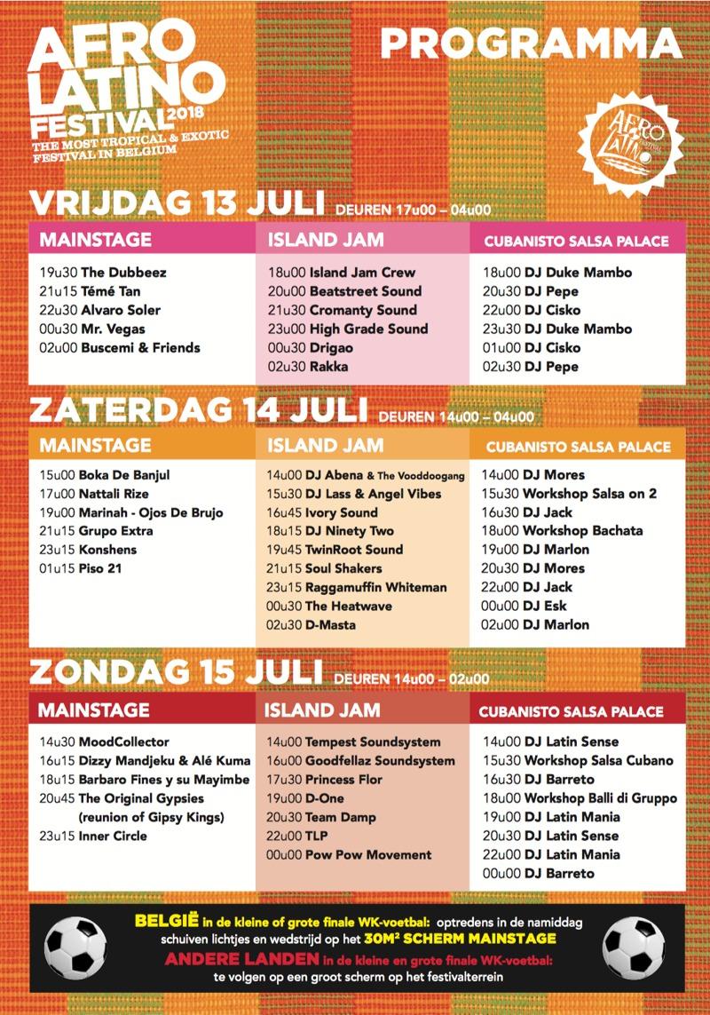 Programma 20e editie Afro-Latino Festival compleet en timetable online
