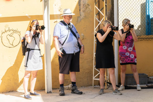 Cursisten tijdens de fotografiereis in 2018