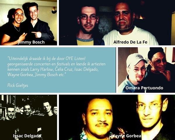 DJ Rick met Issac Delgado, Wayne Gorbea, Jimmy Bosch, Omara Portuondo en Alfredo De La Fe