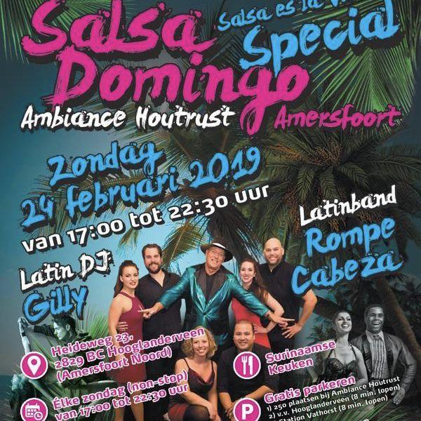 Zo 24 feb 2019: Salsa Domingo Amersfoort Noord in Amersfoort