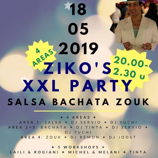 Za 18 mei 2019: Ziko`s XXL Party - Salsa Bachata Zouk in Duiven